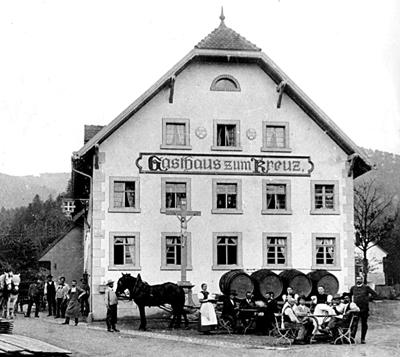 Wein Lieferung im Jahre 1902 mit Gottfried Hug